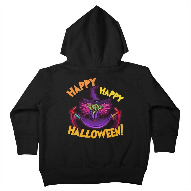 Happy Happy Halloween Witch! Kids Toddler Zip-Up Hoody by Joe Abboreno's Artist Shop