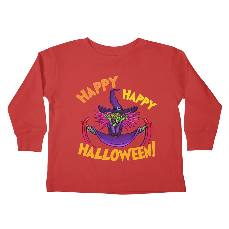 Happy Happy Halloween Witch! Kids Toddler Longsleeve T-Shirt by Joe Abboreno's Artist Shop