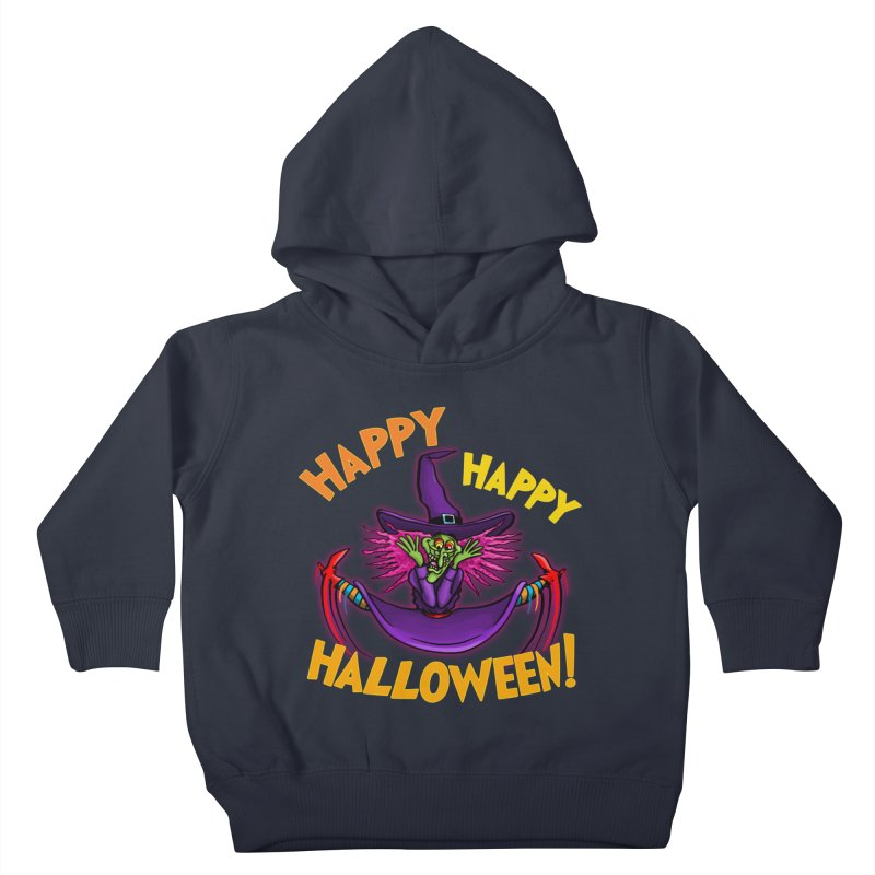 Happy Happy Halloween Witch! Kids Toddler Pullover Hoody by Joe Abboreno's Artist Shop