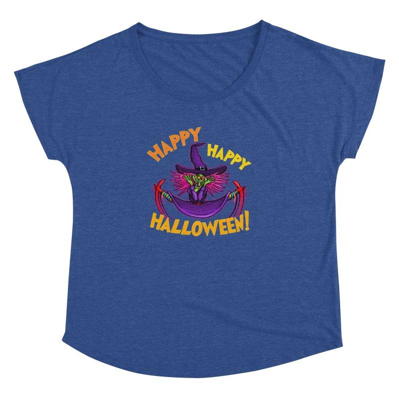 Happy Happy Halloween Witch! Women's Dolman Scoop Neck by Joe Abboreno's Artist Shop