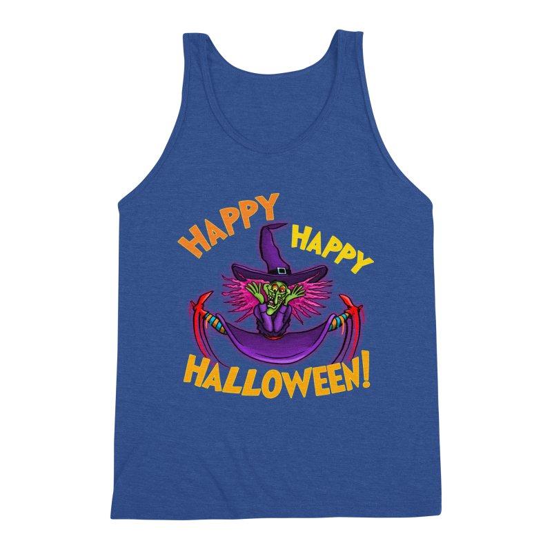 Happy Happy Halloween Witch! Men's Triblend Tank by Joe Abboreno's Artist Shop