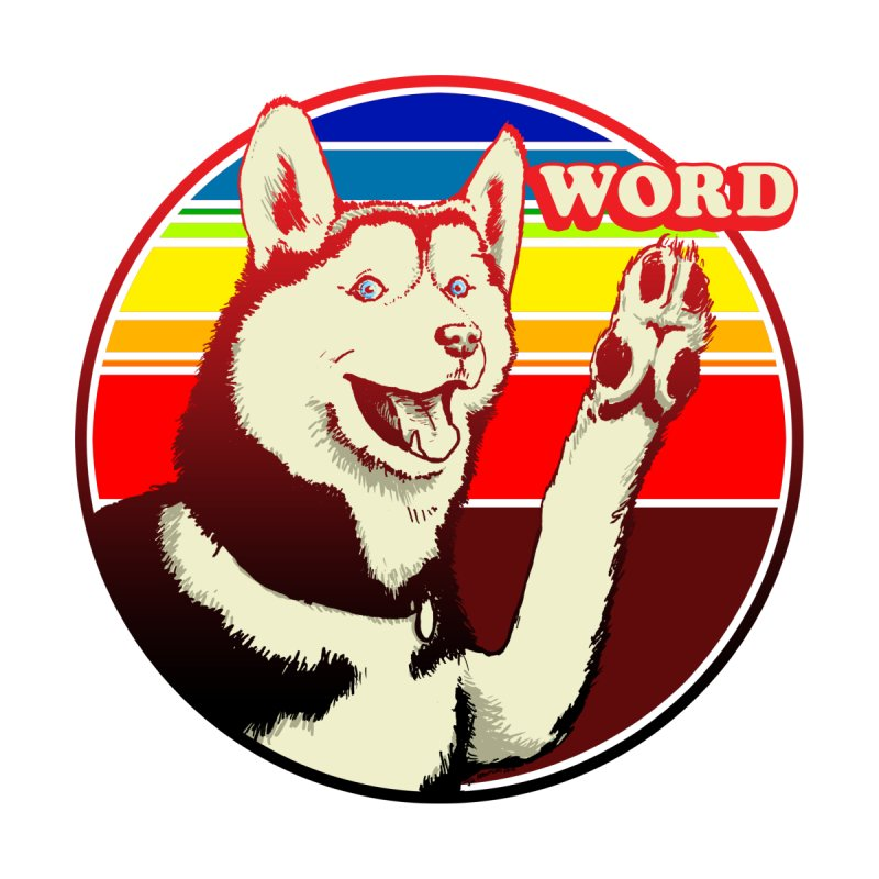 Word Dog by Joe Abboreno's Artist Shop