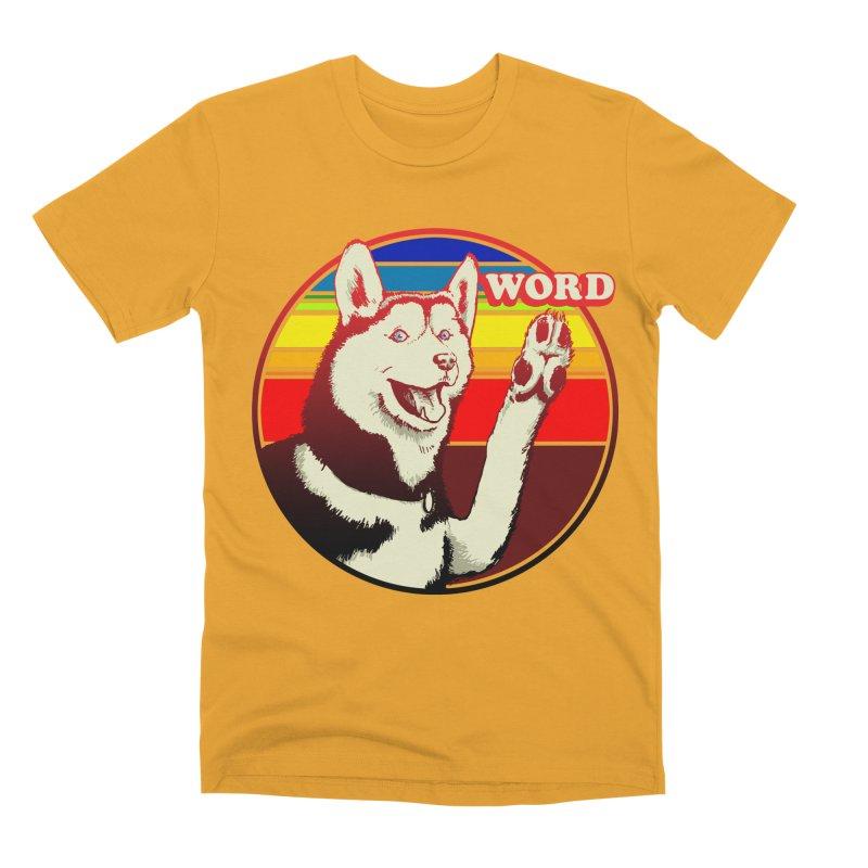 Word Dog Men's Premium T-Shirt by Joe Abboreno's Artist Shop
