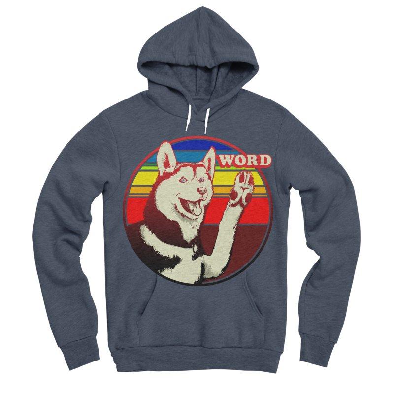 Word Dog Men's Sponge Fleece Pullover Hoody by Joe Abboreno's Artist Shop