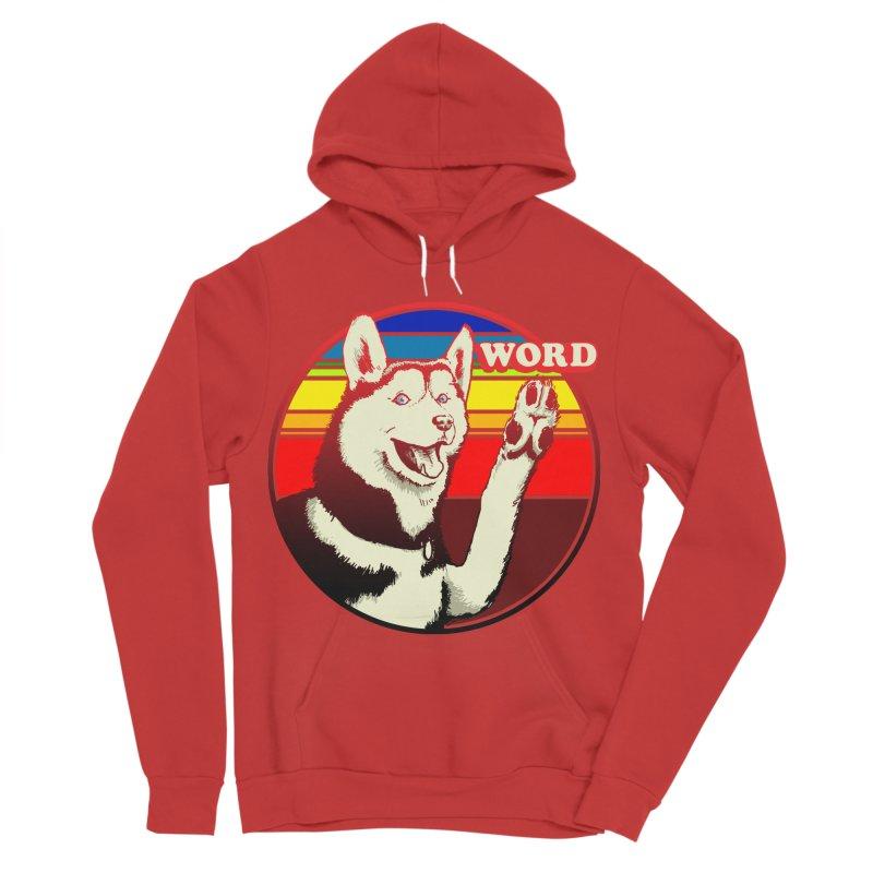 Word Dog Women's Sponge Fleece Pullover Hoody by Joe Abboreno's Artist Shop