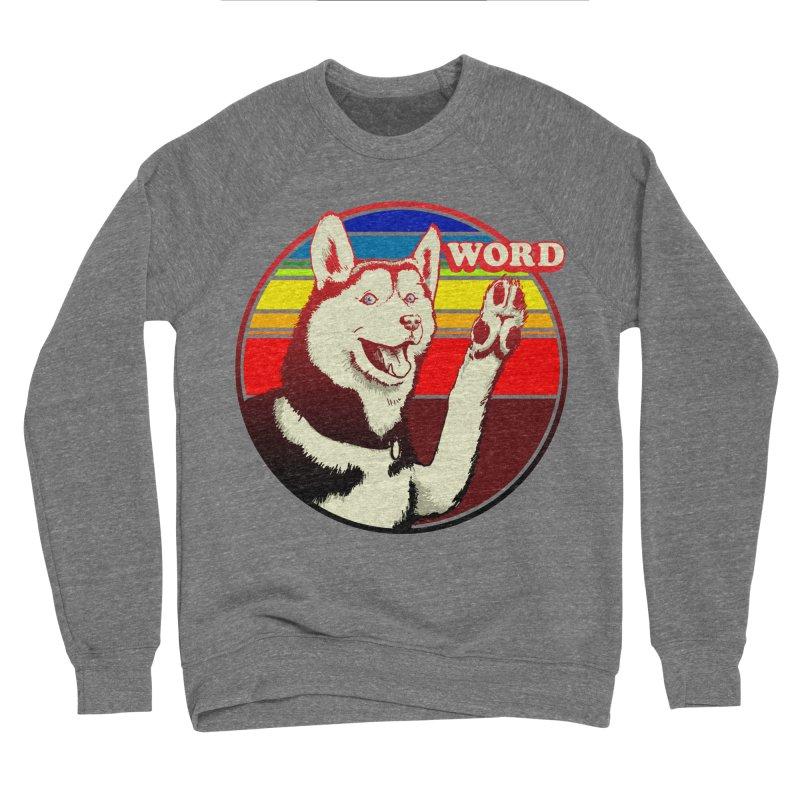 Word Dog Men's Sponge Fleece Sweatshirt by Joe Abboreno's Artist Shop