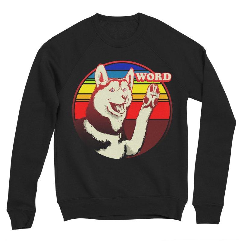 Word Dog Women's Sponge Fleece Sweatshirt by Joe Abboreno's Artist Shop