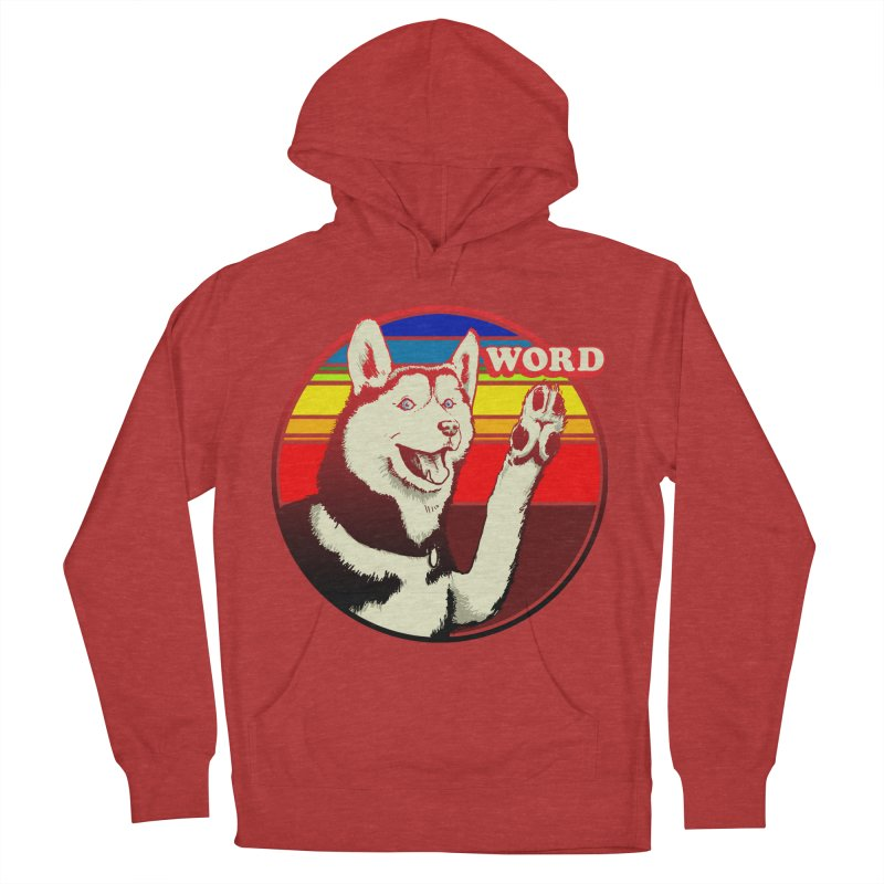 Word Dog Men's French Terry Pullover Hoody by Joe Abboreno's Artist Shop