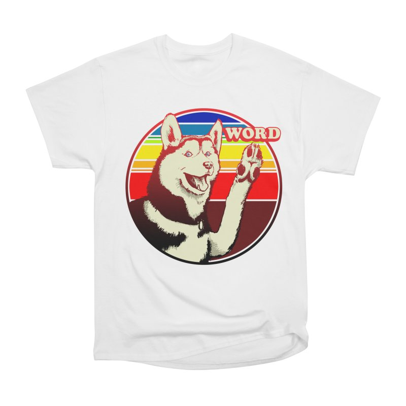 Word Dog Men's Heavyweight T-Shirt by Joe Abboreno's Artist Shop