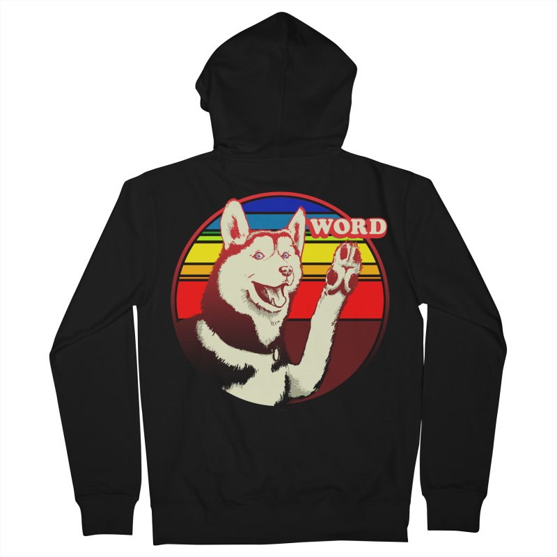 Word Dog Women's French Terry Zip-Up Hoody by Joe Abboreno's Artist Shop