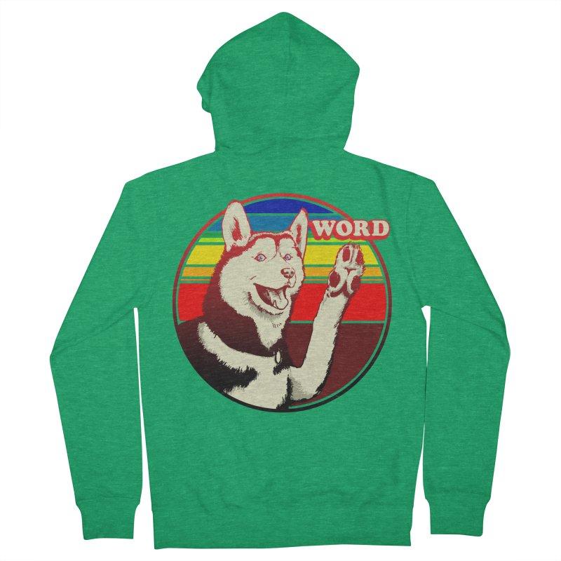 Word Dog Men's French Terry Zip-Up Hoody by Joe Abboreno's Artist Shop