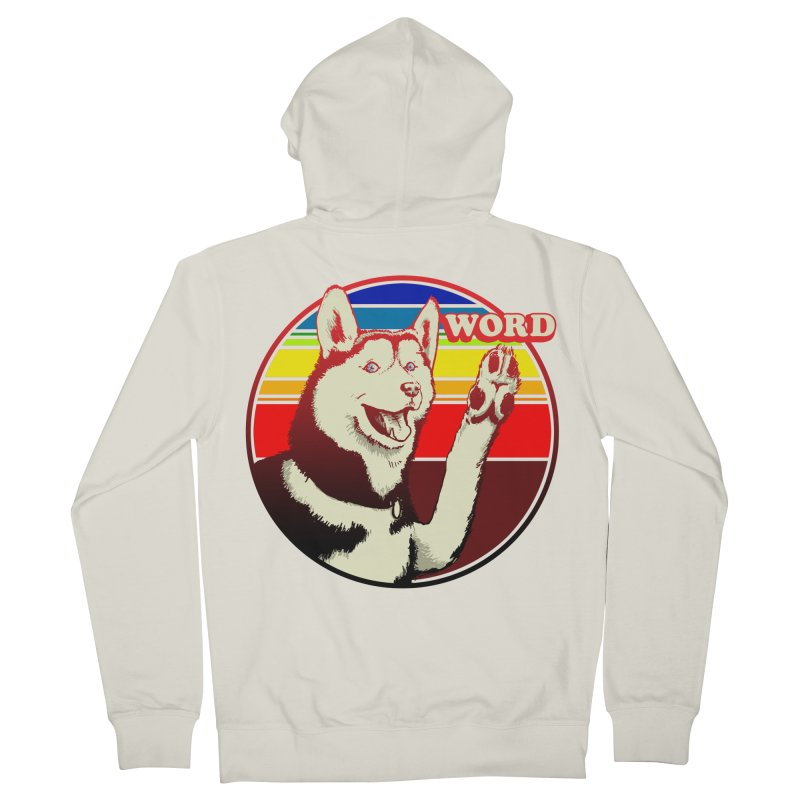 Word Dog Men's French Terry Zip-Up Hoody by Joe Abboreno's Artist Shop