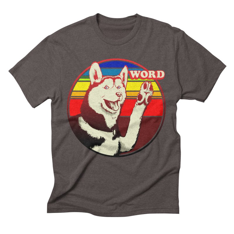 Word Dog Men's Triblend T-Shirt by Joe Abboreno's Artist Shop