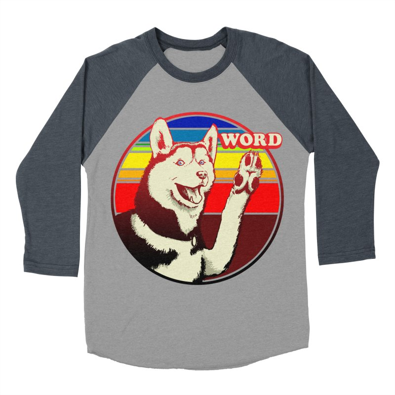 Word Dog Men's Baseball Triblend Longsleeve T-Shirt by Joe Abboreno's Artist Shop