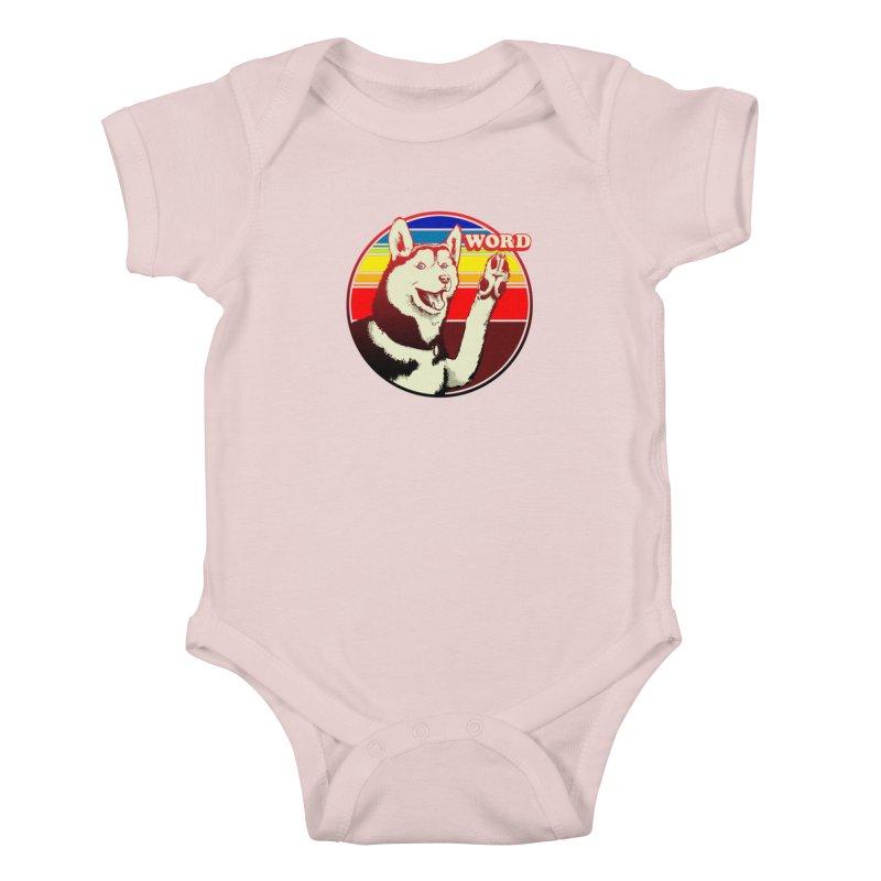 Word Dog Kids Baby Bodysuit by Joe Abboreno's Artist Shop