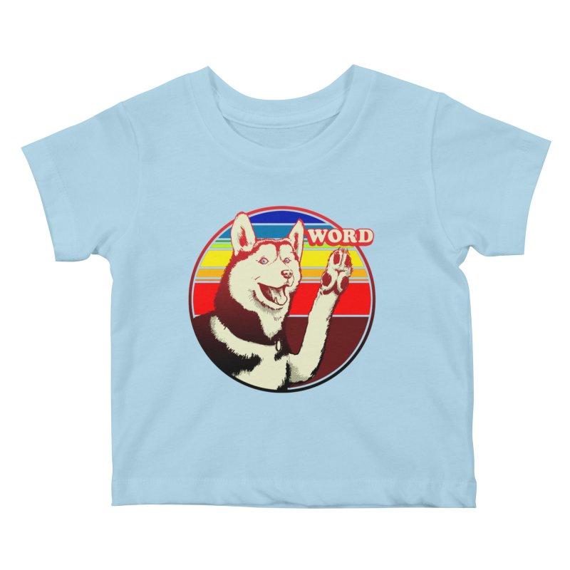 Word Dog Kids Baby T-Shirt by Joe Abboreno's Artist Shop
