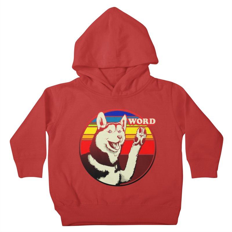 Word Dog Kids Toddler Pullover Hoody by Joe Abboreno's Artist Shop