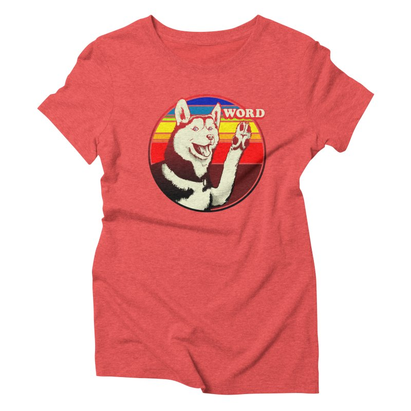 Word Dog Women's Triblend T-Shirt by Joe Abboreno's Artist Shop