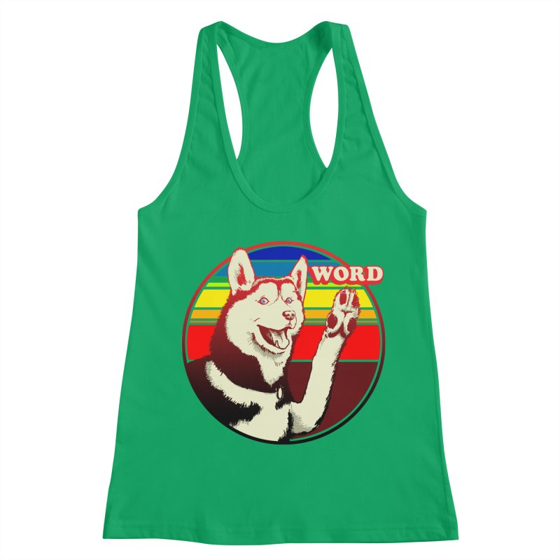 Word Dog Women's Racerback Tank by Joe Abboreno's Artist Shop