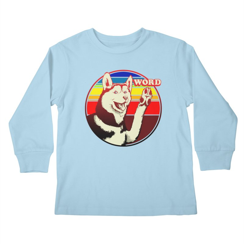 Word Dog Kids Longsleeve T-Shirt by Joe Abboreno's Artist Shop