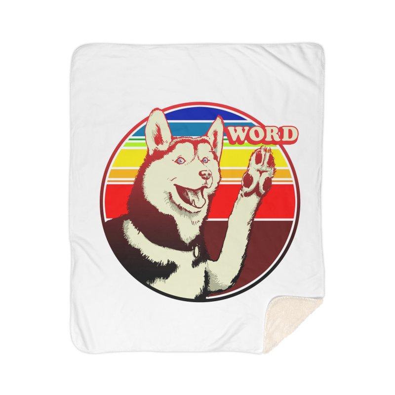 Word Dog Home Sherpa Blanket Blanket by Joe Abboreno's Artist Shop