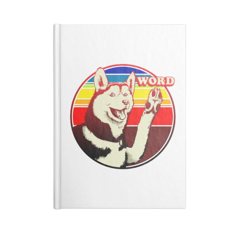 Word Dog Accessories Lined Journal Notebook by Joe Abboreno's Artist Shop