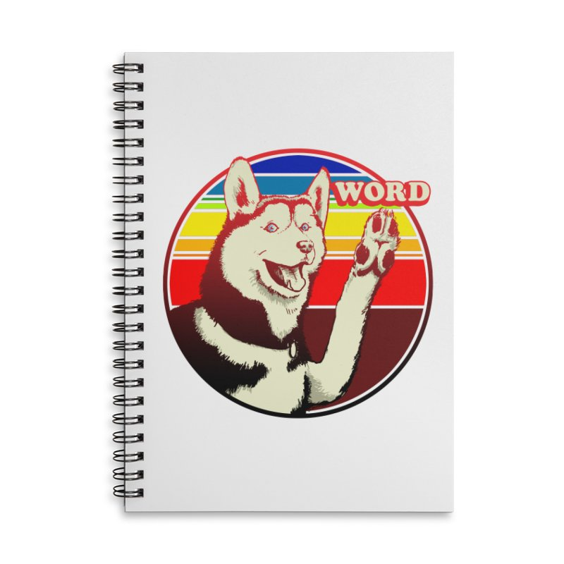 Word Dog Accessories Lined Spiral Notebook by Joe Abboreno's Artist Shop