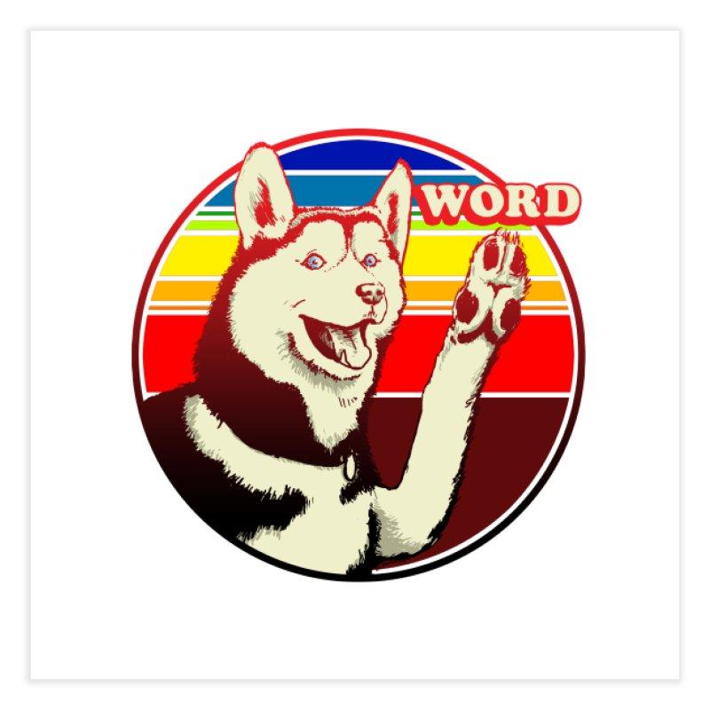 Word Dog Home Fine Art Print by Joe Abboreno's Artist Shop