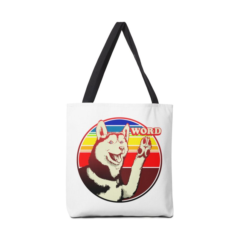 Word Dog Accessories Tote Bag Bag by Joe Abboreno's Artist Shop