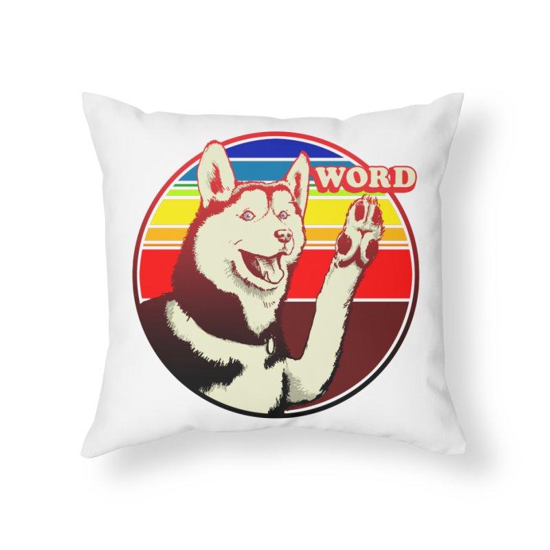 Word Dog Home Throw Pillow by Joe Abboreno's Artist Shop