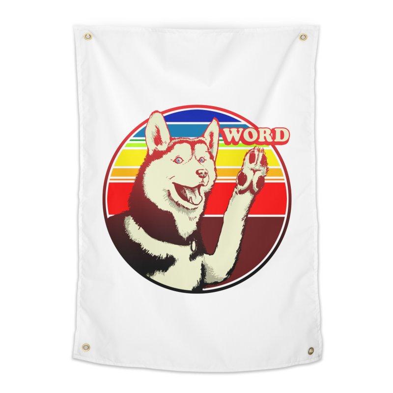 Word Dog Home Tapestry by Joe Abboreno's Artist Shop