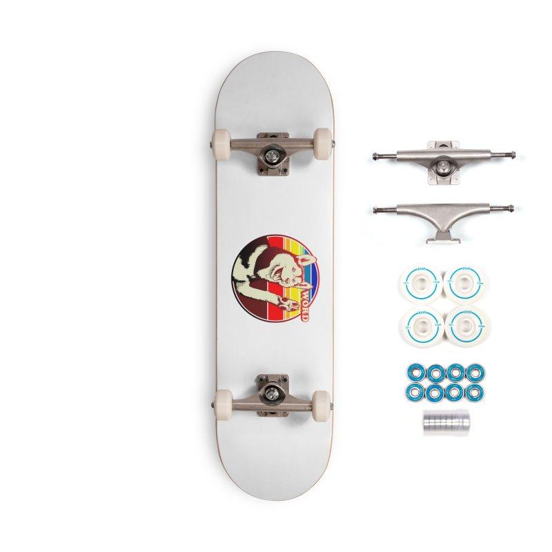 Word Dog Accessories Complete - Basic Skateboard by Joe Abboreno's Artist Shop