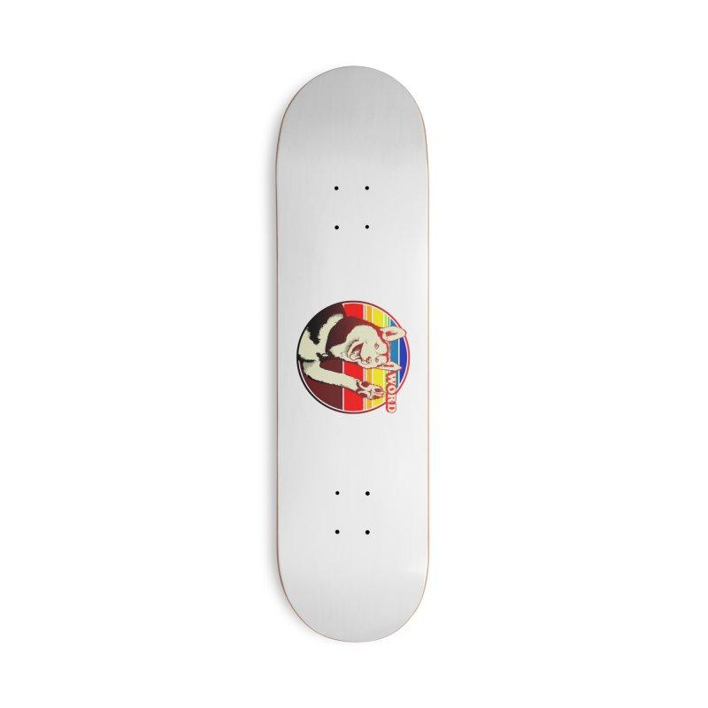 Word Dog Accessories Deck Only Skateboard by Joe Abboreno's Artist Shop