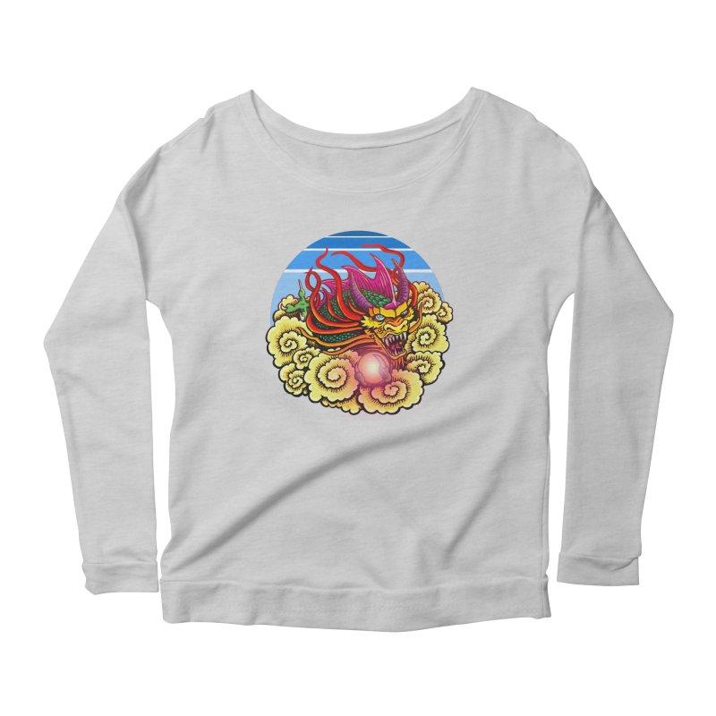 Air Dragon Women's Scoop Neck Longsleeve T-Shirt by Joe Abboreno's Artist Shop