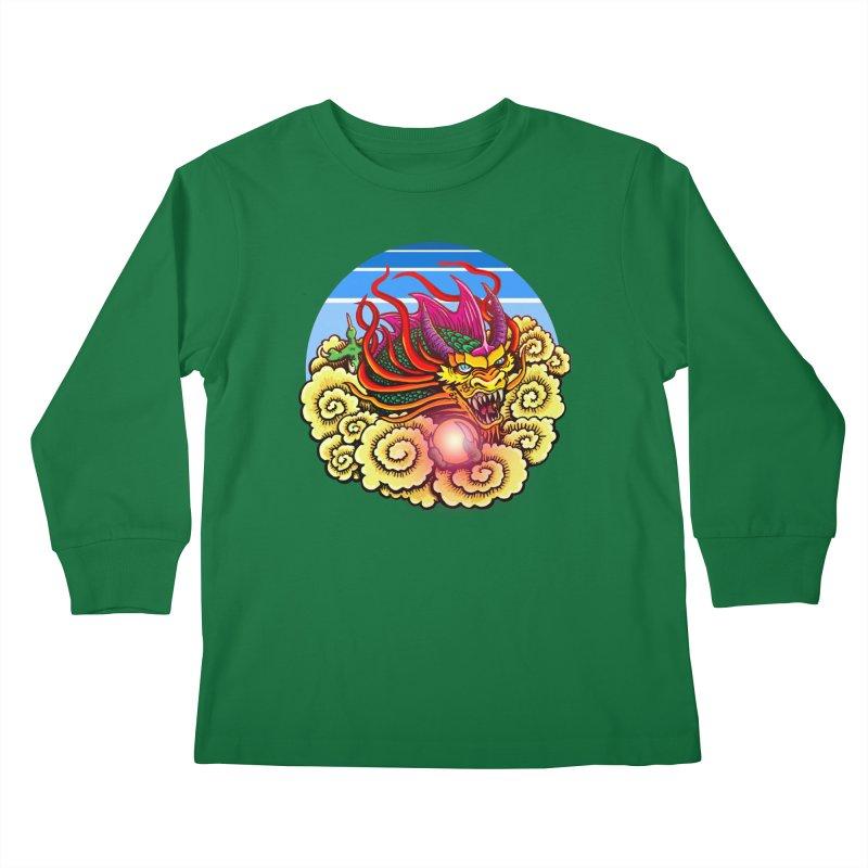 Air Dragon Kids Longsleeve T-Shirt by Joe Abboreno's Artist Shop