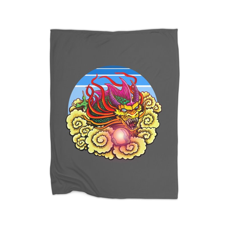 Air Dragon Home Fleece Blanket Blanket by Joe Abboreno's Artist Shop