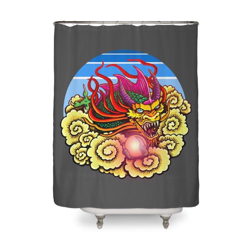 Air Dragon Home Shower Curtain by Joe Abboreno's Artist Shop