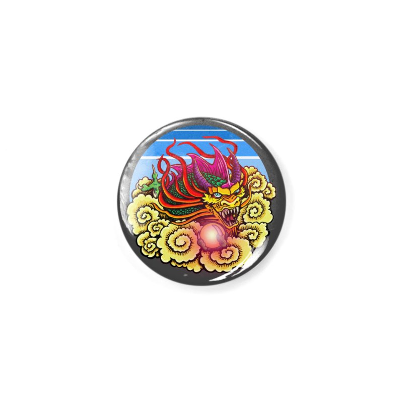 Air Dragon Accessories Button by Joe Abboreno's Artist Shop