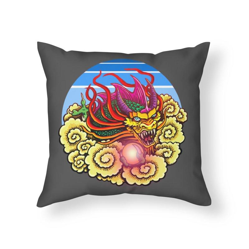 Air Dragon Home Throw Pillow by Joe Abboreno's Artist Shop