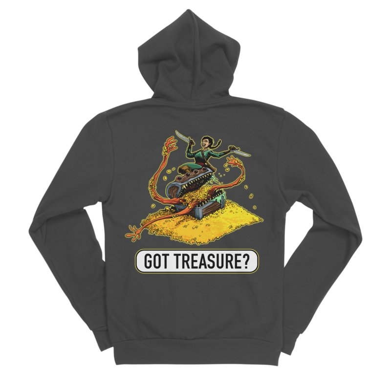 Got Treasure? Women's Sponge Fleece Zip-Up Hoody by Joe Abboreno's Artist Shop