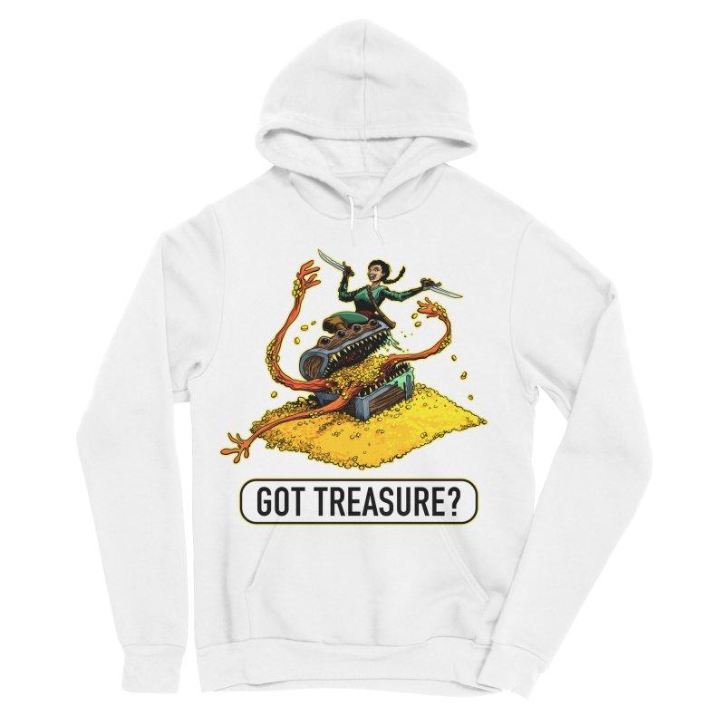 Got Treasure? Women's Sponge Fleece Pullover Hoody by Joe Abboreno's Artist Shop