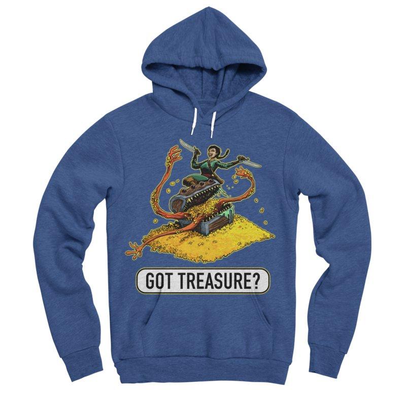 Got Treasure? Men's Sponge Fleece Pullover Hoody by Joe Abboreno's Artist Shop
