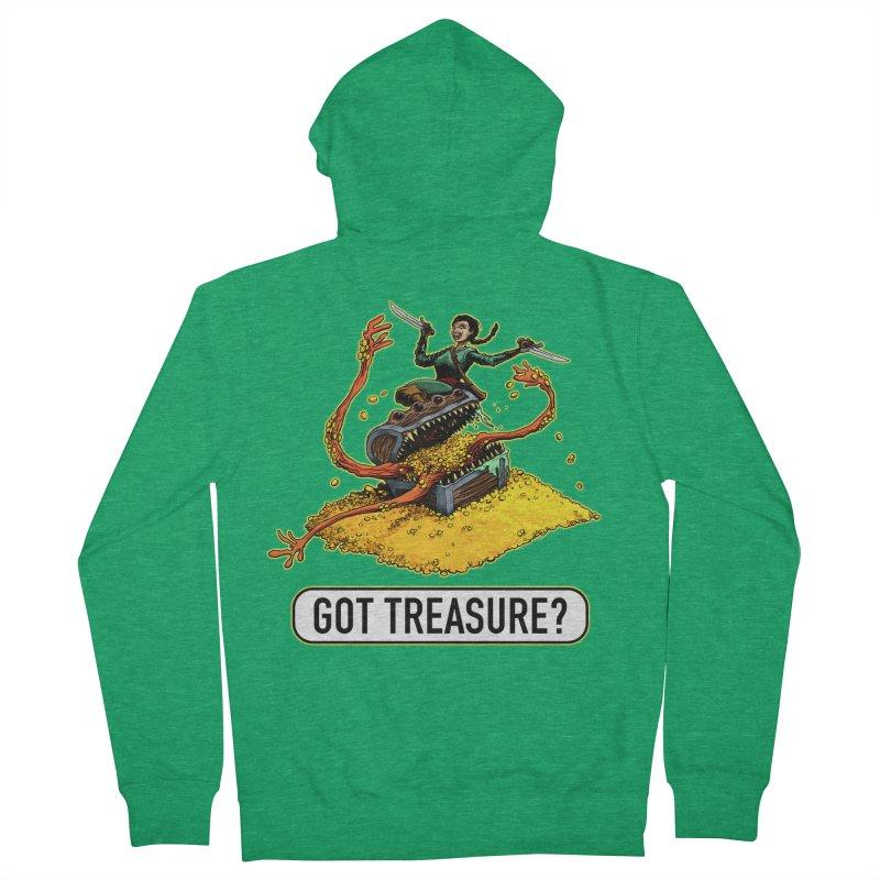 Got Treasure? Men's French Terry Zip-Up Hoody by Joe Abboreno's Artist Shop