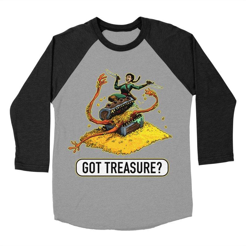 Got Treasure? Women's Baseball Triblend Longsleeve T-Shirt by Joe Abboreno's Artist Shop