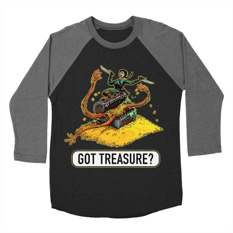 Got Treasure? Men's Baseball Triblend Longsleeve T-Shirt by Joe Abboreno's Artist Shop