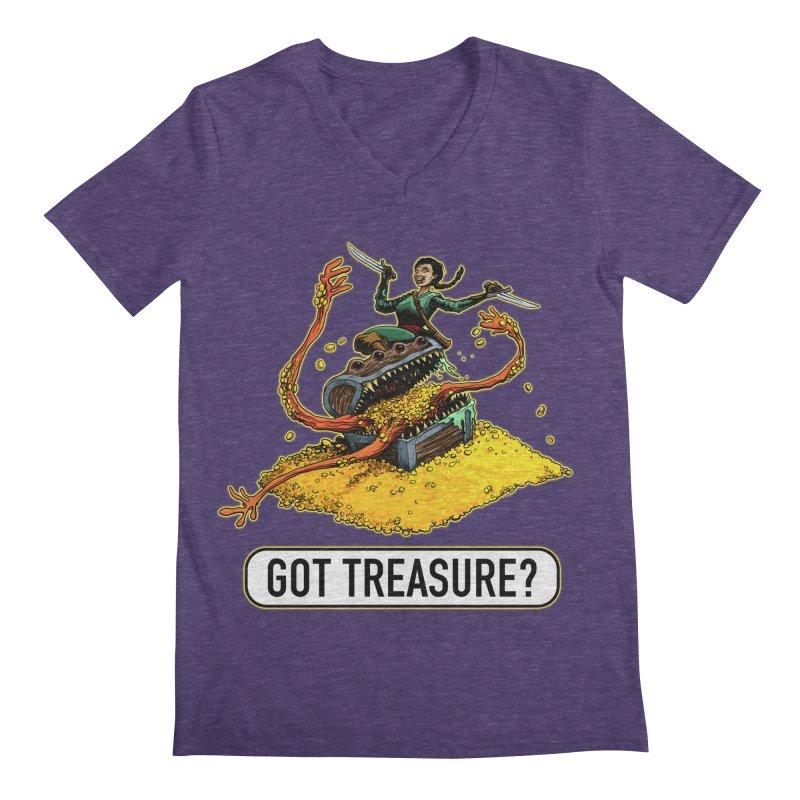 Got Treasure? Men's Regular V-Neck by Joe Abboreno's Artist Shop