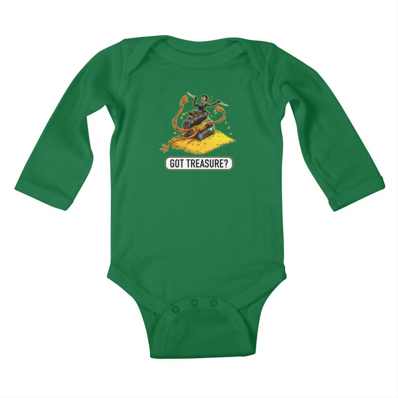 Got Treasure? Kids Baby Longsleeve Bodysuit by Joe Abboreno's Artist Shop