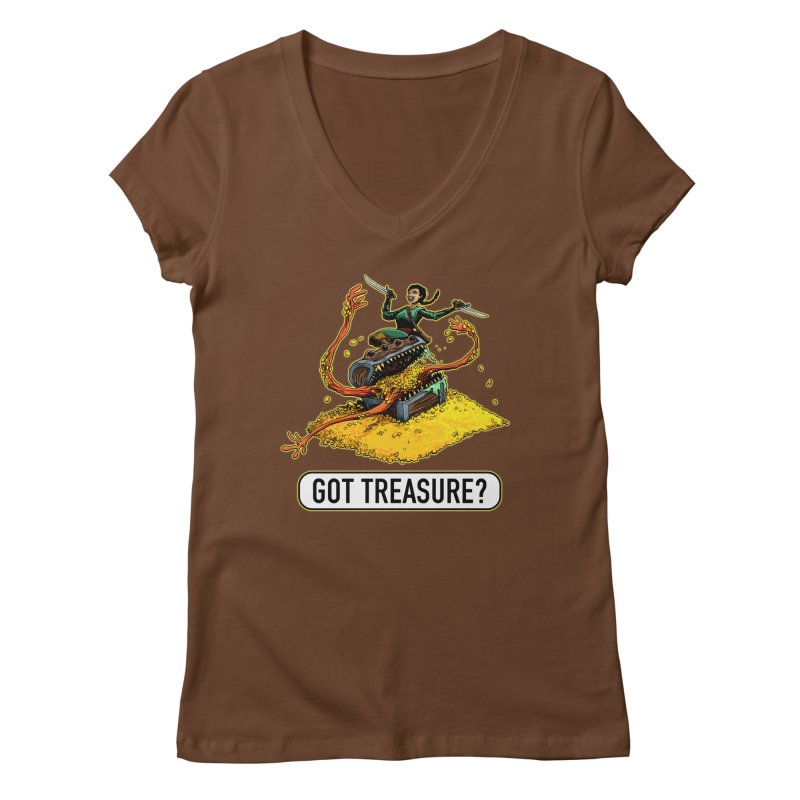 Got Treasure? Women's Regular V-Neck by Joe Abboreno's Artist Shop