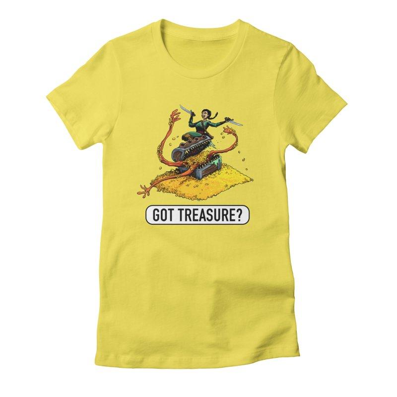 Got Treasure? Women's Fitted T-Shirt by Joe Abboreno's Artist Shop