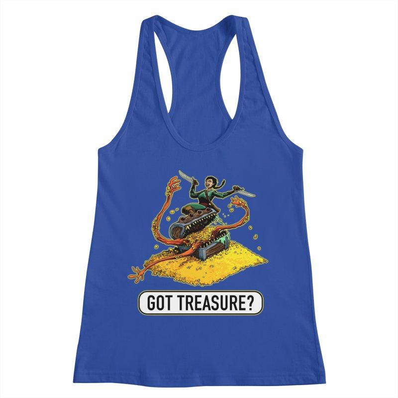 Got Treasure? Women's Racerback Tank by Joe Abboreno's Artist Shop